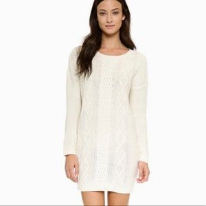{Jack} Cream Cable Knit Sweater Dress